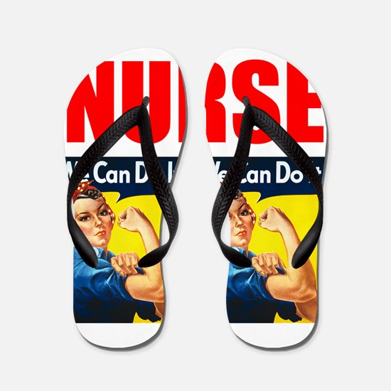 Nurse Rosie the Riveter We Can Do It Flip Flops