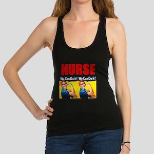 Nurse Rosie the Riveter We Can Do It Racerback Tan