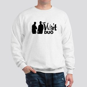 The Wait Duo (White on Black) Sweatshirt