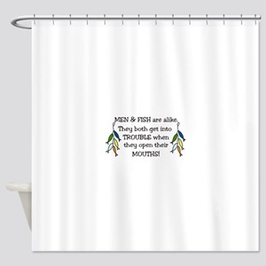 Get Into Trouble Shower Curtain
