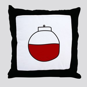 Fishing Bobber Throw Pillow