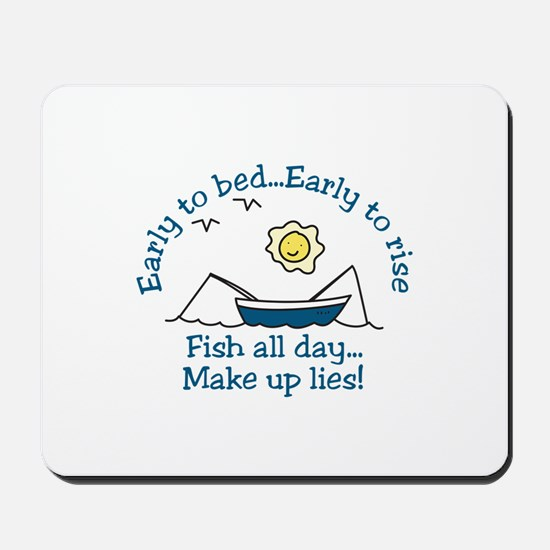Early To Bed Mousepad