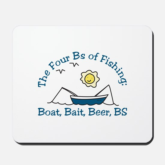 The Four Bs Mousepad