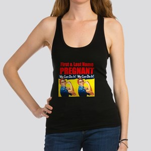 Pregnant Rosie the Riveter We Can Do It Racerback