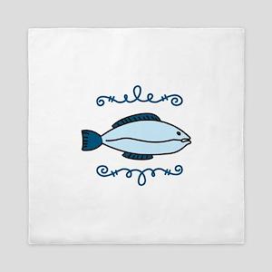 Blue Fish Queen Duvet