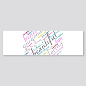 Positive Thinking Text Sticker (Bumper)