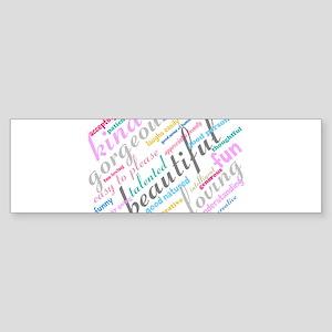 Positive Thinking Text Sticker (Bumper)