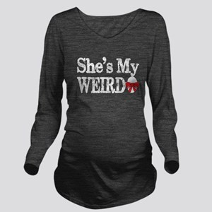 shes my weirdo couple Long Sleeve Maternity T-Shir
