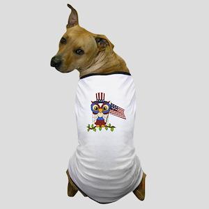 Patriotic Owl Dog T-Shirt