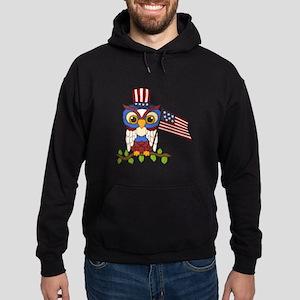 Patriotic Owl Hoodie (dark)