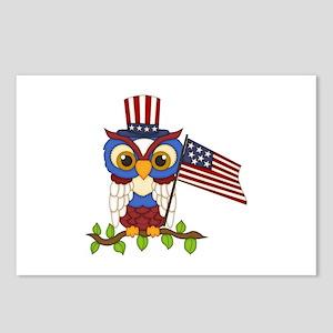 Patriotic Owl Postcards (Package of 8)