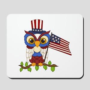 Patriotic Owl Mousepad