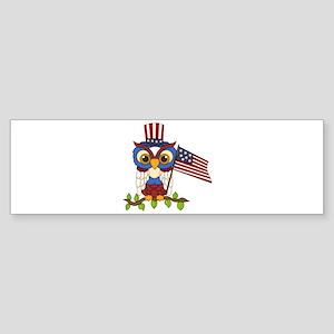 Patriotic Owl Sticker (Bumper)