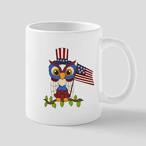 Patriotic Owl Mug