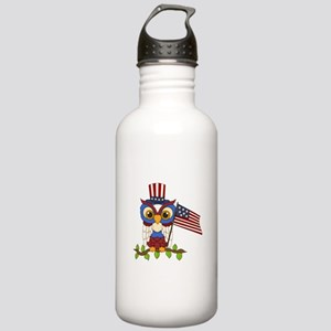 Patriotic Owl Stainless Water Bottle 1.0L