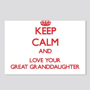 Keep Calm and Love your Great Granddaughter Postca