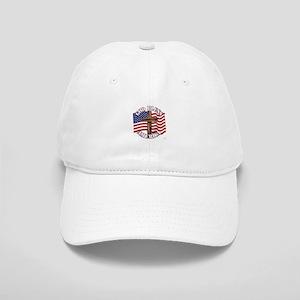 God Bless America With USA Flag and Cross Baseball