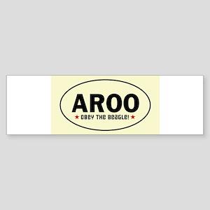 aroo_beagle Bumper Sticker