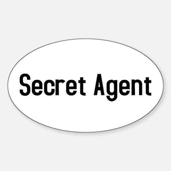 Secret Agent Oval Decal