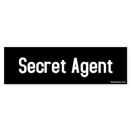 Secret Agent Bumper Sticker