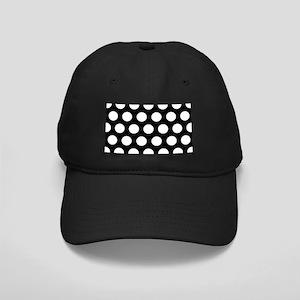 #Black And White Polka Dots Baseball Hat