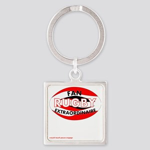 Rugby Fan Extraordinaire Square Keychain