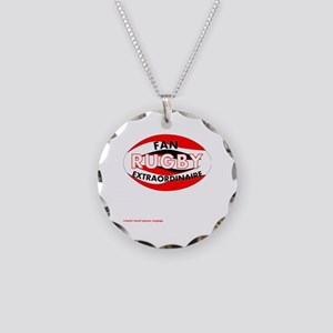 Rugby Fan Extraordinaire Necklace Circle Charm