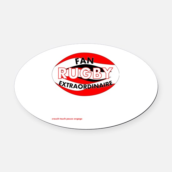 Rugby Fan Extraordinaire Oval Car Magnet