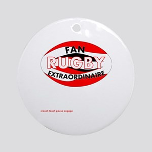 Rugby Fan Extraordinaire Round Ornament