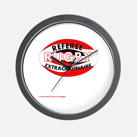 Rugby Referee Extraordinaire Wall Clock