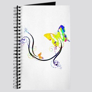 Colorful butterfly flourish Journal