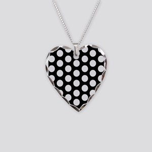 #Black And White Polka Dots Necklace
