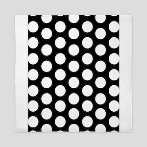 #Black And White Polka Dots Queen Duvet