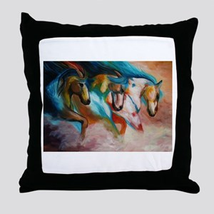 three spirits Throw Pillow