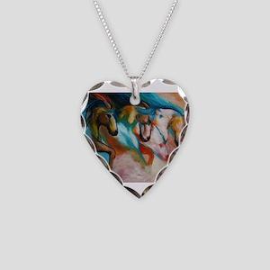 three spirits Necklace Heart Charm