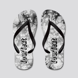 Abstract Personalized Flip Flops