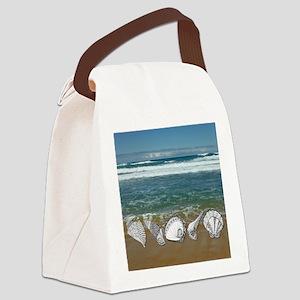 Seashell Beach Art Canvas Lunch Bag