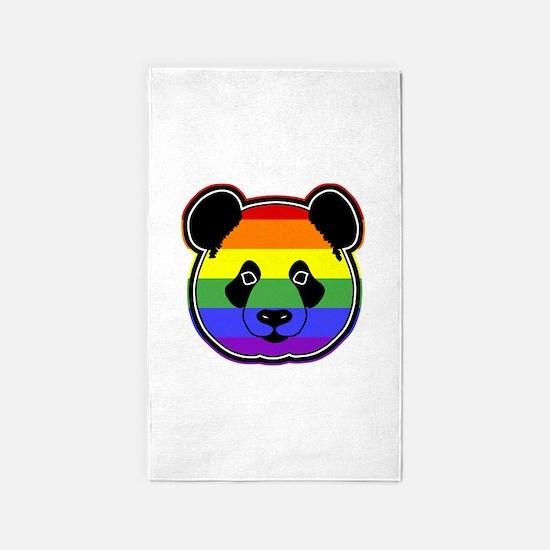 panda head pride 3'x5' Area Rug