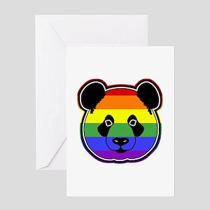 panda head pride Greeting Card