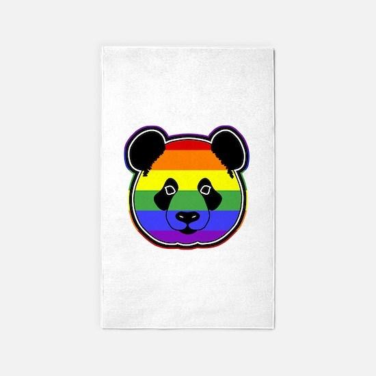 panda head pride 2 3'x5' Area Rug