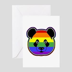 panda head pride 2 Greeting Card