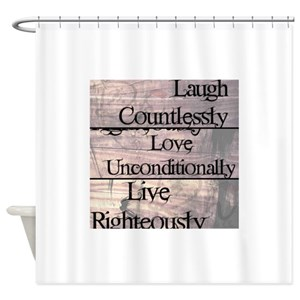 Live Love Travel Shower Curtains