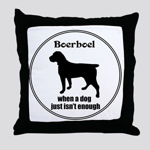 Boerboel Enough Throw Pillow