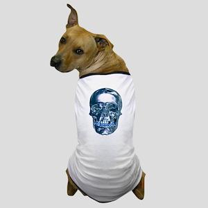 Blue Chrome Skull Dog T-Shirt