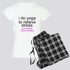 I Do Yoga To Relieve Stress - Just Kidding I Drink