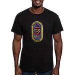 USS THOMAS C. HART Men's Fitted T-Shirt (dark)