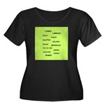 Women's Plus Size Scoop Neck Dark Dance T-Shirt