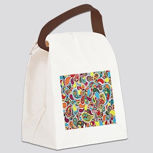 Whimsy Burst Canvas Lunch Bag