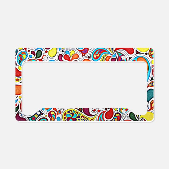 Whimsy Burst License Plate Holder