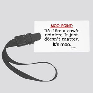 'Moo Point' Large Luggage Tag